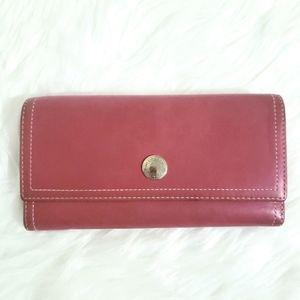 COACH Leather Chelsea Flap Envelope Trifold Wallet